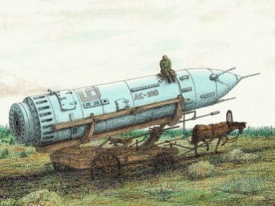 Ракета на конной тяге. Источник — www.deafnet.ru