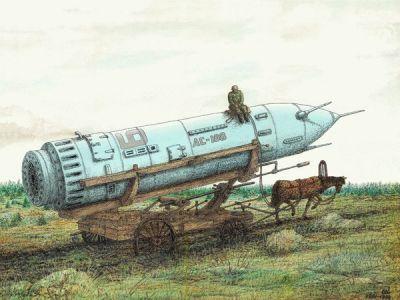 Ракета на телеге. Источник — chagnavstretchy.mirtesen.ru