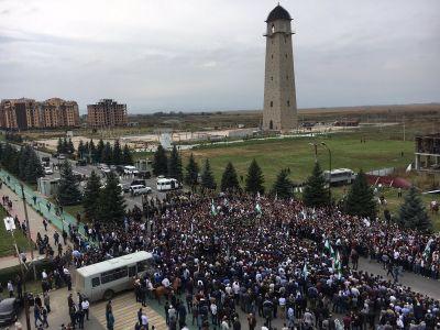 Митинг в Ингушетии. Фото: twitter.com/barabanch
