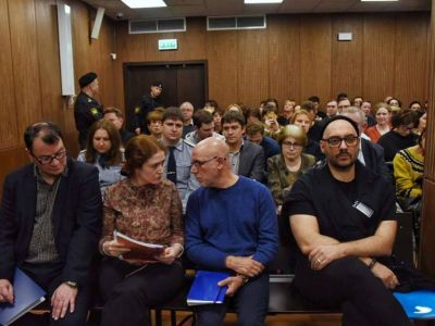 """Заседание суда по делу """"Седьмой студии"""". Фото: novayagazeta.ru"""