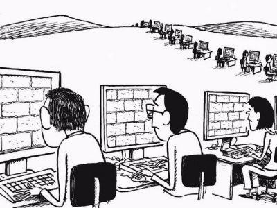 """""""Надежный"""" (надежно заблокированный) интернет. Карикатура: telekomza.ru"""