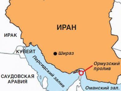 Иран и Ормузский пролив. Карта: argumenti.ru