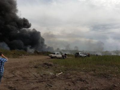 По официальным данным МЧС, площадь пожара составила в итоге 400 квадратных метров  Фото: Рамиль Каюмов