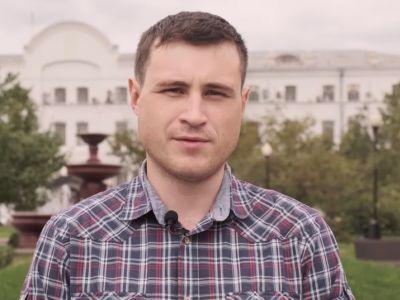 Избранный в Мосгордуму справоросс Александр Соловьев. Фото: VOTE.MOSCOW / YouTube