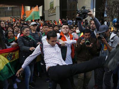 Протесты в Боливии из-за президентских выборов. Фото: Jorge Saenz / AP Photo