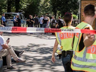 Германская полиция на месте гибели Хангошвили. Фото: mnews.world