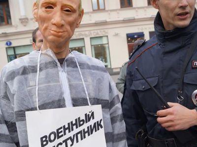 Путин в тюремной робе. Фото: Твиттер