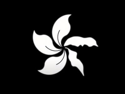 Символ Гонконга — траурный вариант. Иллюстрация: youtube.com/watch?v=Pe1gTPcWyds