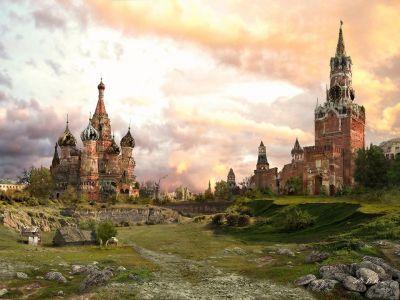 Москва, Красная площадь, постапокалипсис. Картина В.Манюхина: blog.zaandr.ru