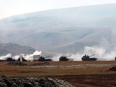 Арцах (Нагорный Карабах), колонна военной техники в зоне конфликта. Фото: 24tv.ua