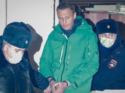"""Алексей Навальный после """"суда"""", 18.01.21. Фото: t.me/readovkanews"""