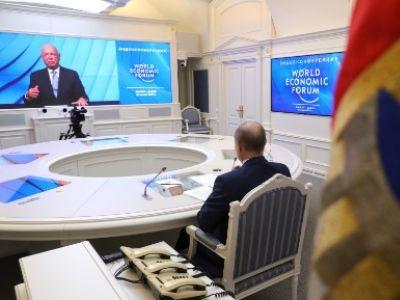 Выступление В.Путина на Давосском экономическом форуме (онлайн), 27.01.21. Фото: kremlin.ru