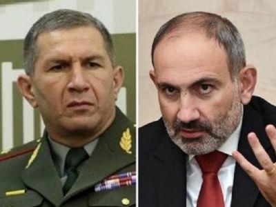 Генерал Оник Гаспарян и Никол Пашинян. Фото: novostink.net